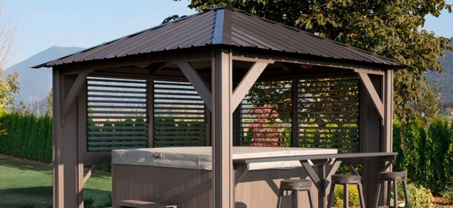 Visscher Gazebos and Pergolas come in three basic types -- open air, semi- enclosed, and fully enclosed -- each available in a wide range of styles  and can ... - Visscher Specialty Gazebos And Pergolas In Surrey BC